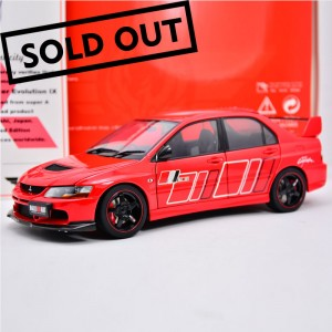 Super A 1:18 Mitsubishi evo9 Evo IX RALLIART alloy full open limited red pattern
