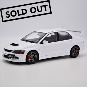 Super A 1:18 mitsubishi EVO9 mitsubishi official authorized alloy all open white